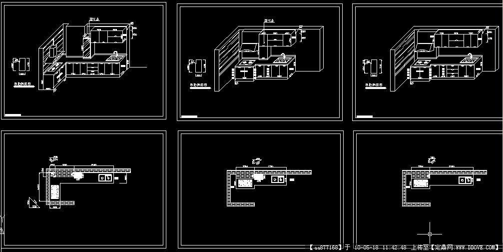 求,橱柜设计图cad图的画法