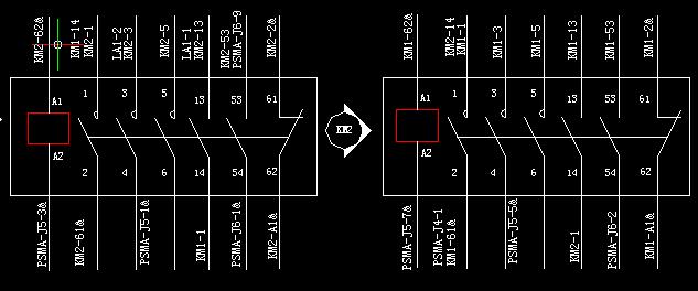 接触器实现双电源切换接线图?