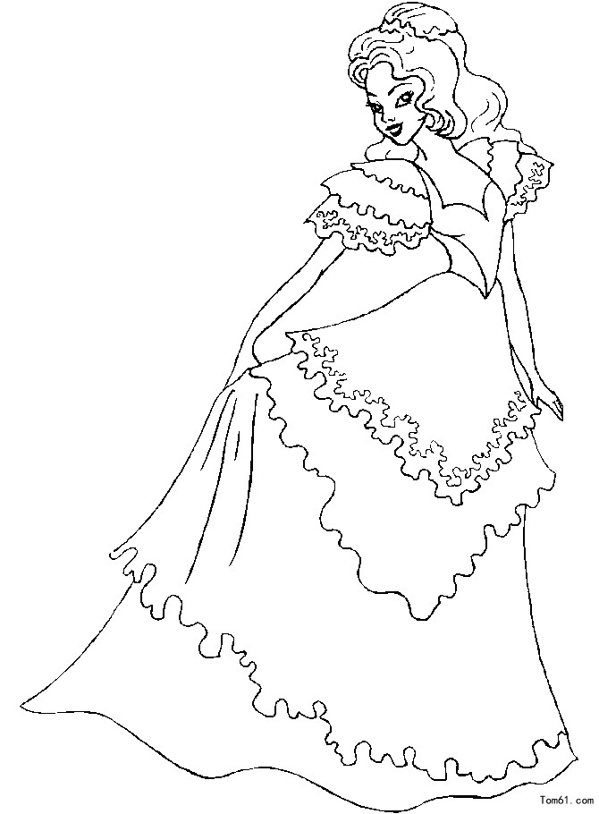 公主的简笔画(要带裙子的)