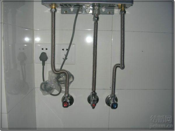 燃气热水器安装图图片