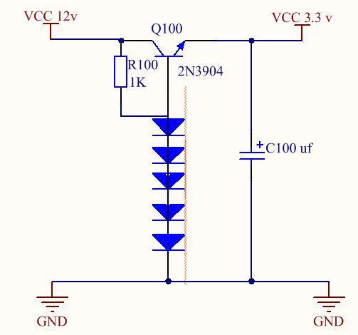 3v,只可以用二极管,三极管,阻容件,如何做啊