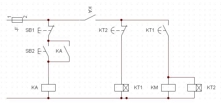 用时间继电器来控制电动机.