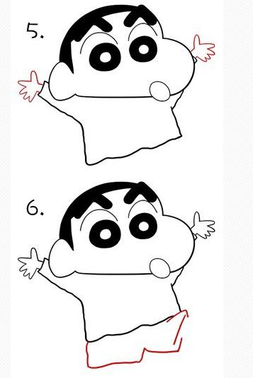 蜡笔小新怎么画,求最简单画法!
