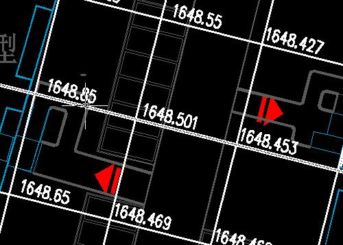 CAD自己画好方格网与数字考题,用标高软二级建筑设计土方图片