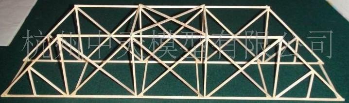 木结构桥梁承重的设计图