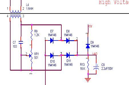 电磁炉电流互感器采样电流