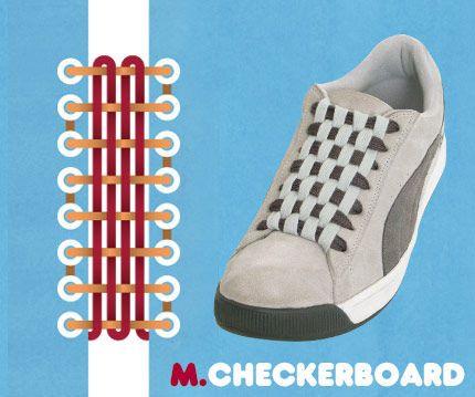 6孔单根穿鞋带的24方法图解