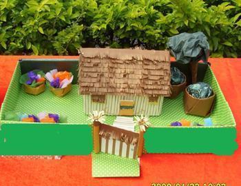 手工小制作怎样用废品制作一个立体农家小院?