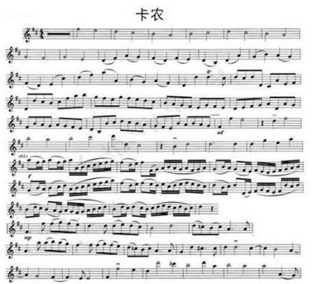 卡农正确小提琴独奏琴谱