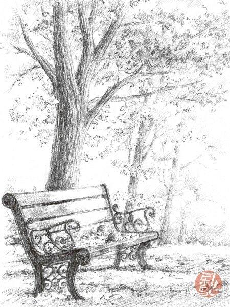 手绘杂树的乱线怎么画
