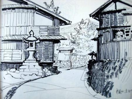 怎么画建筑风景速写啊 比如校园一角