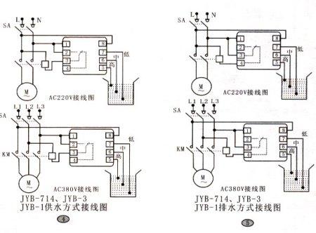 用jyb714液位继电器和cjx2系列的接触器自动控制三相水泵的实物接线图