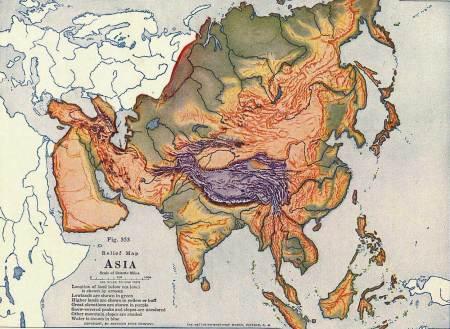 亚洲地形囹�b���_亚洲地形图 无国家