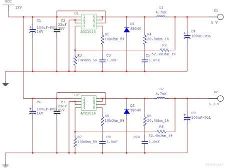 单片机电源设计中,怎么把9v(dc)转成5v和3.3v(均为dc)