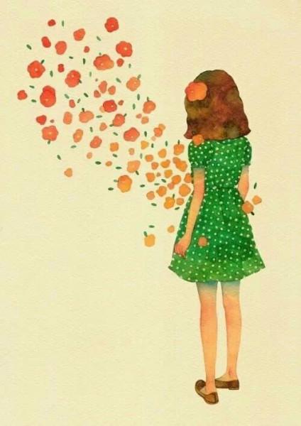 女生背影壁纸 一系列手绘