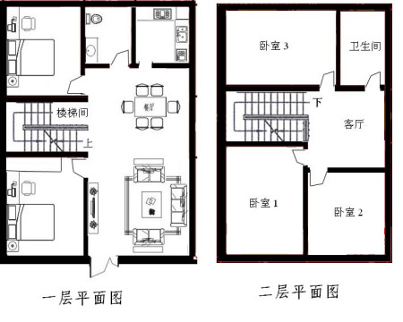 90平方米房屋设计平面图