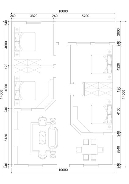 农村房屋设计平面图