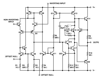μa741集成运算放大器的内部原理电路图 百度