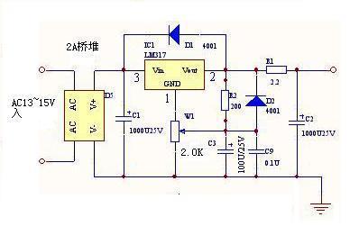 求一张可调节直流功放电路图