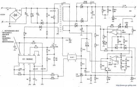 48v电动车充电器图纸原理图片