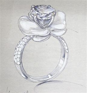 有没有戒指的设计图或者是素描图,谁有,可以给我发过来么?
