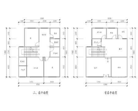 长12米,宽9米的二层楼房设计图纸.