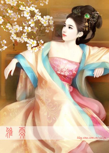 我想要几张古装人物的手绘,要漂亮一点的,就像后宫的妃子似的