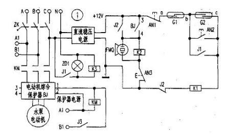 电路组成:      如图所示,主电路是三相电源经空气断路器,交流接触器