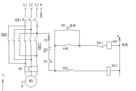 电机制动的接线方式接线图用接近开关和电磁抱闸
