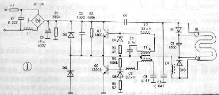 求问良亮荧光台灯mt2218电路图,该灯电阻及功率管烧毁