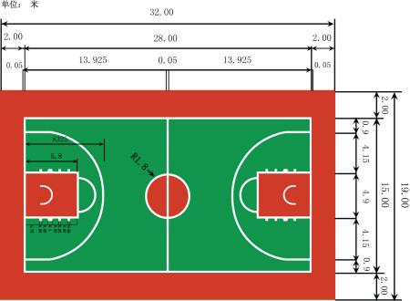 篮球场平面图