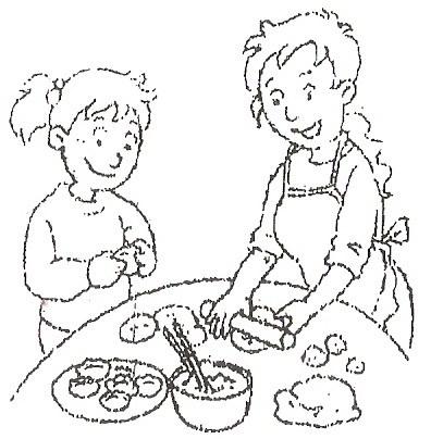 怎样做包饺子的简笔画