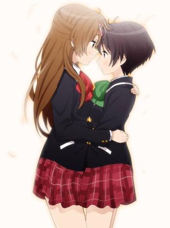 求二次元两个女生拥抱在一起的图片,百合的图片也行,唯美漂亮一点的.