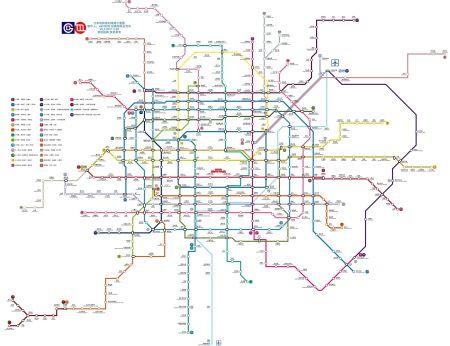 求北京地铁2020年规划图高清版
