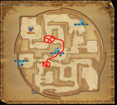 谁有轩辕传奇灵蛇洞和昆仑墟器灵boss坐标点~要有图的图片