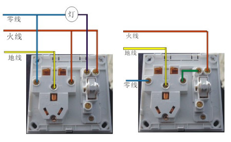 这种开关插座怎么接线图片