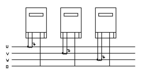 三块单向电表接三相电用三个电流互感器怎么接?