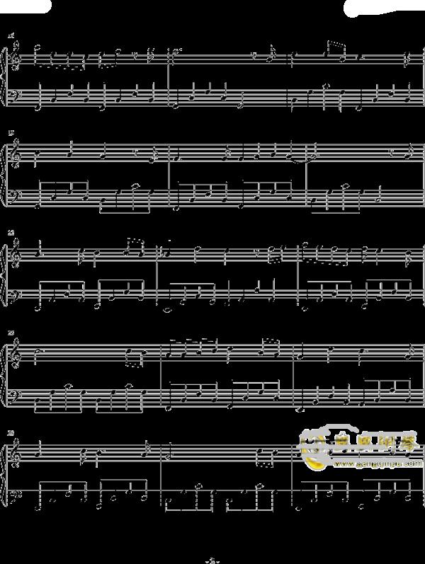 李白的笛子简谱歌谱-卡农钢琴曲谱简图