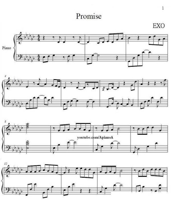 求EXO 约定 钢琴谱 | 宽600x701高 | 显示比例:100% |查看原图下一张-