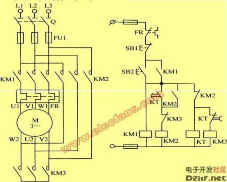 请问星三角降压启动电气原理图共有几种画法?