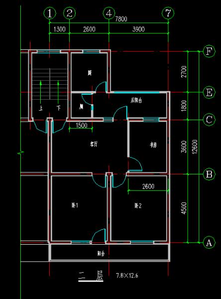 8米宽12米长房屋设计图与别人共用个楼梯间