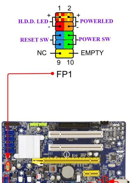 富士康主板g41mex series接线图
