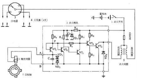 汽车电子打火装置的电路原理图是什么(简单就好)?