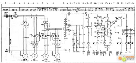 求中捷z3050x16/1电气原理图图片