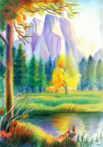最少20张 答: 求采纳  求几幅比较好画又美的彩铅风景画,要求一小时完