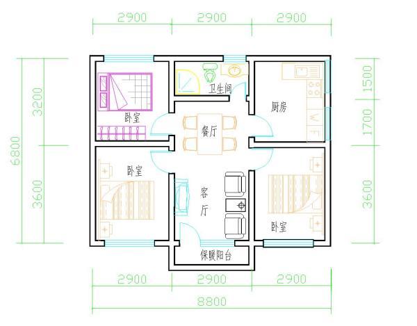 别墅_农村房屋设计图_二层建房设计图_农村房子设计图   轩鼎房屋图纸图片