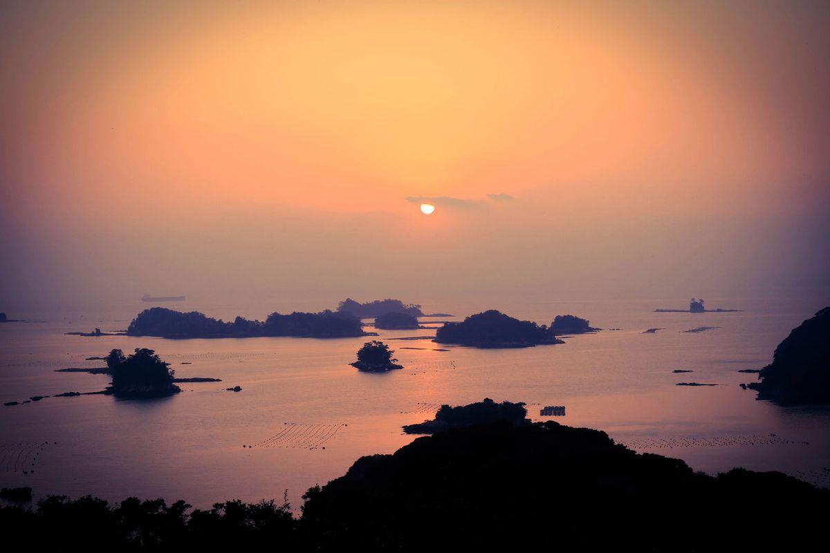长崎九十九岛的绝美景致和迷醉落日