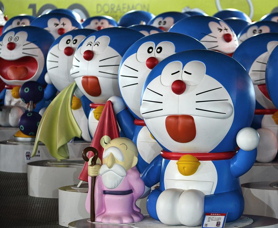 好可爱的蓝胖子图片