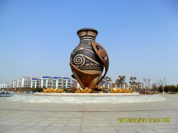 福如东海广场的标志性雕塑图片