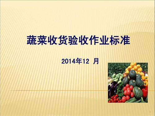 蔬菜验收作业标准。PPT_攻略美食_知识美食盘摆动物美食像图片